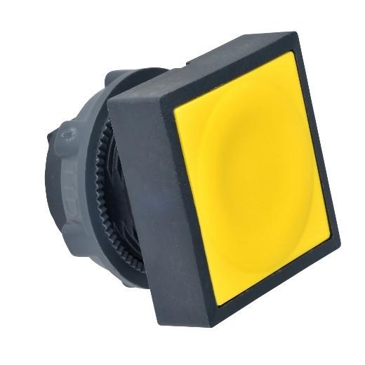 Schneider ZB5CA5 Harmony műanyag négyszög alakú nyomógomb fej, Ø22, visszatérő, sárga