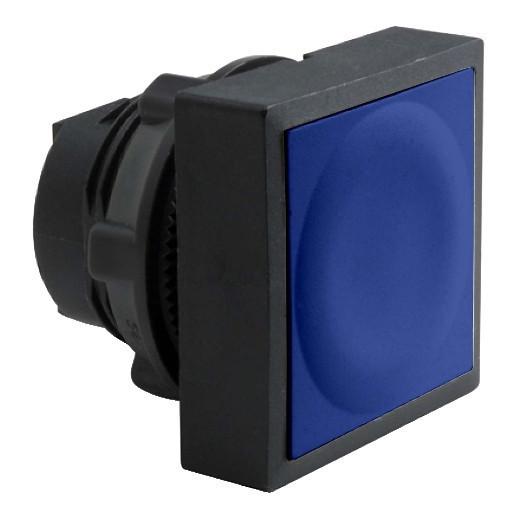 Schneider ZB5CA6 Harmony műanyag négyszög alakú nyomógomb fej, Ø22, visszatérő, kék