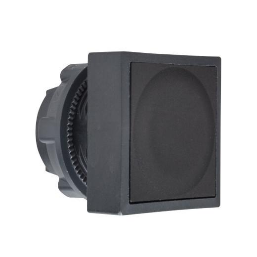 Schneider ZB5CH02 Harmony műanyag négyszög alakú nyomógomb fej, Ø22, nyomó-nyomó, fekete