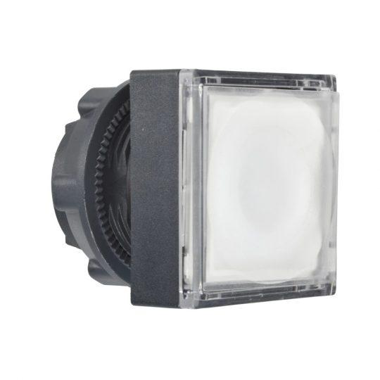 Schneider ZB5CH313 Harmony műanyag négyszög alakú világító nyomógomb fej, Ø22, nyomó-nyomó, LED modulhoz, fehér