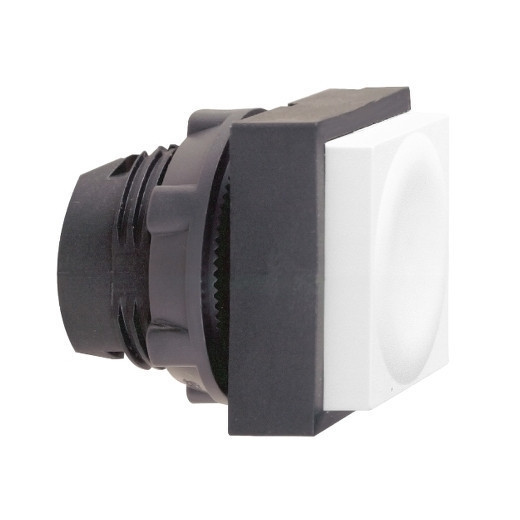 Schneider ZB5CL1 Harmony műanyag négyszög alakú nyomógomb fej, Ø22, visszatérő, kiemelkedő, fehér
