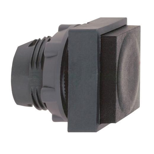 Schneider ZB5CL2 Harmony műanyag négyszög alakú nyomógomb fej, Ø22, visszatérő, kiemelkedő, fekete