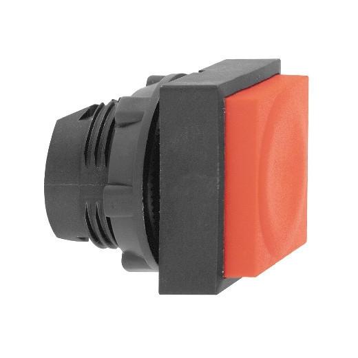 Schneider ZB5CL4 Harmony műanyag négyszög alakú nyomógomb fej, Ø22, visszatérő, kiemelkedő, piros
