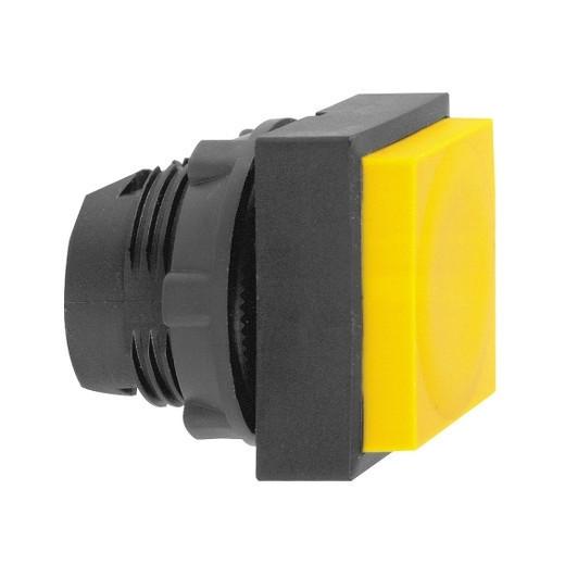 Schneider ZB5CL5 Harmony műanyag négyszög alakú nyomógomb fej, Ø22, visszatérő, kiemelkedő, sárga