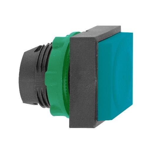 Schneider ZB5CL6 Harmony műanyag négyszög alakú nyomógomb fej, Ø22, visszatérő, kiemelkedő, kék