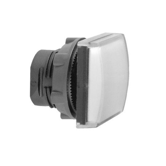 Schneider ZB5CV013 Harmony műanyag négyszög alakú jelzőlámpa fej, Ø22, LED modulhoz, fehér