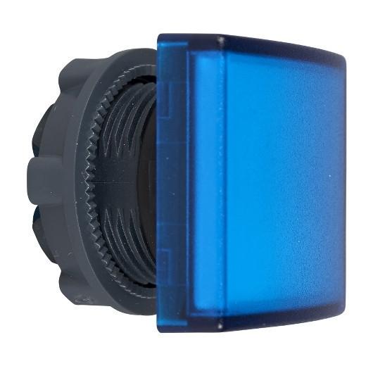 Schneider ZB5CV063 Harmony műanyag négyszög alakú jelzőlámpa fej, Ø22, LED modulhoz, kék