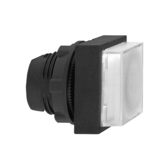 Schneider ZB5CW113 Harmony műanyag négyszög alakú világító nyomógomb fej, Ø22, visszatérő, LED modulhoz, kiemelkedő, fehér