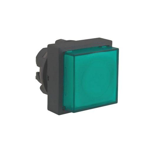 Schneider ZB5CW133 Harmony műanyag négyszög alakú világító nyomógomb fej, Ø22, visszatérő, LED modulhoz, kiemelkedő, fekete