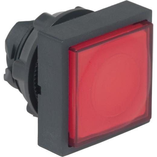 Schneider ZB5CW143 Harmony műanyag négyszög alakú világító nyomógomb fej, Ø22, visszatérő, LED modulhoz, kiemelkedő, zöld