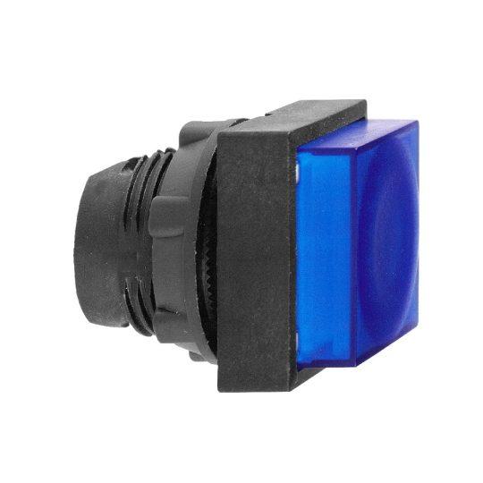 Schneider ZB5CW163 Harmony műanyag négyszög alakú világító nyomógomb fej, Ø22, visszatérő, LED modulhoz, kiemelkedő, sárga