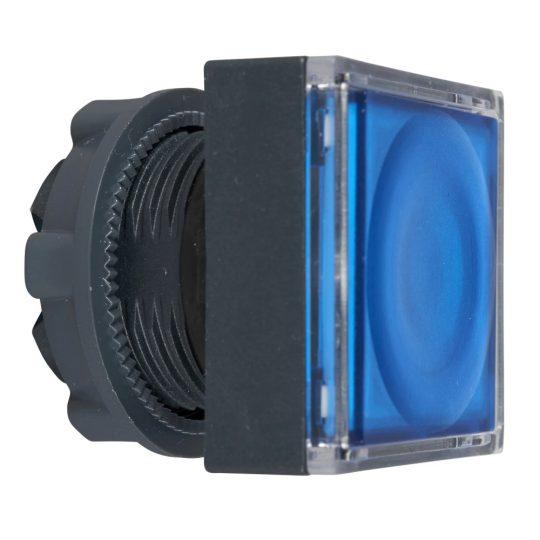 Schneider ZB5CW363 Harmony műanyag négyszög alakú világító nyomógomb fej, Ø22, visszatérő, LED modulhoz, betehető címke, kék