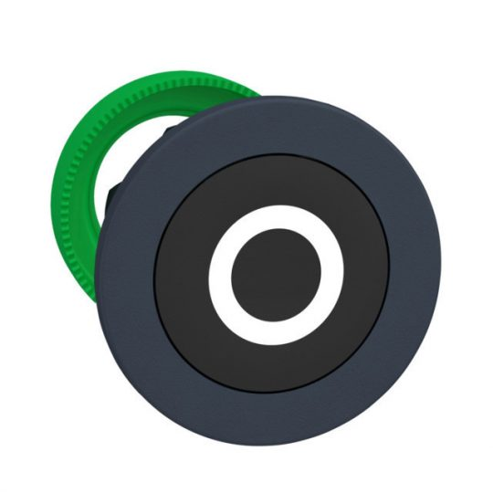 "Schneider ZB5FA232 Harmony panelbe süllyesztett műanyag nyomógomb fej, Ø30, fekete, ""O"""