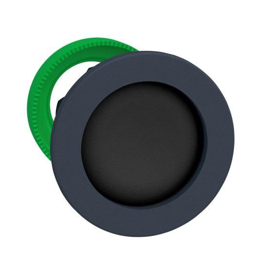 Schneider ZB5FA26 Harmony panelbe süllyesztett műanyag nyomógomb fej, Ø30, visszatérő, mélyítet, fekete