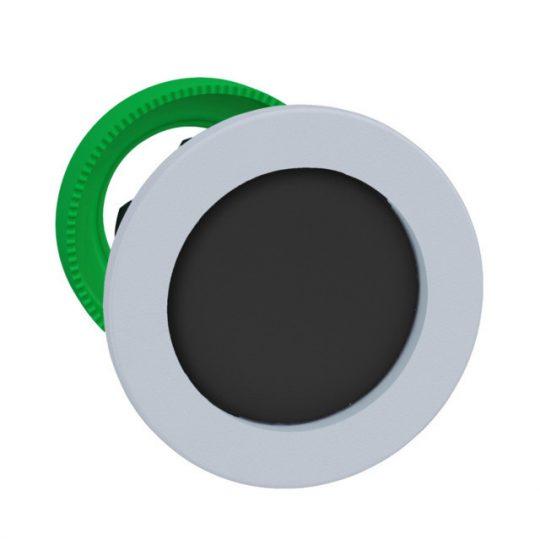 Schneider ZB5FA26C1 Harmony panelbe süllyesztett műanyag nyomógomb fej, Ø30, visszatérő, mélyítet, fekete, fehér perem
