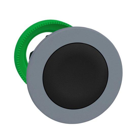 Schneider ZB5FA2C0 Harmony panelbe süllyesztett műanyag nyomógomb fej, Ø30, visszatérő, fekete, szürke perem