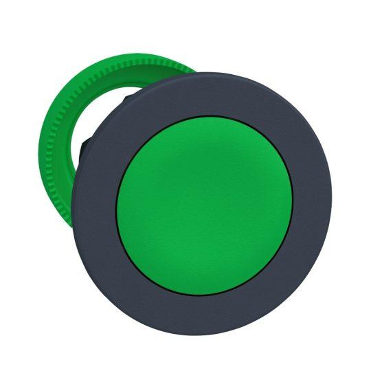 Schneider ZB5FA3 Harmony panelbe süllyesztett műanyag nyomógomb fej, Ø30, visszatérő, zöld
