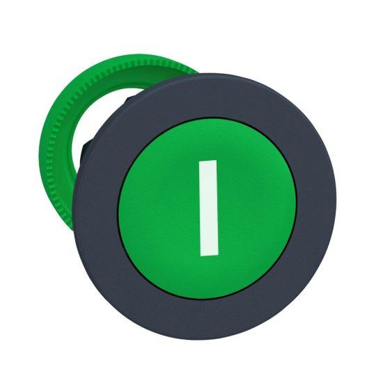 """Schneider ZB5FA331 Harmony panelbe süllyesztett műanyag nyomógomb fej, Ø30, zöld, """"I"""""""