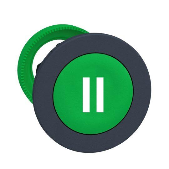 """Schneider ZB5FA336 Harmony panelbe süllyesztett műanyag nyomógomb fej, Ø30, zöld, """"II"""""""