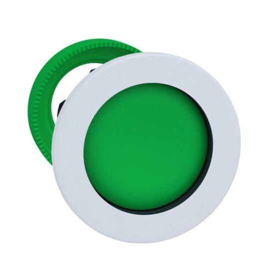 Schneider ZB5FA36C1 Harmony panelbe süllyesztett műanyag nyomógomb fej, Ø30, visszatérő, mélyítet, zöld, fehér perem