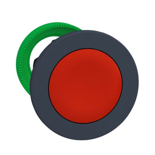Schneider ZB5FA4 Harmony panelbe süllyesztett műanyag nyomógomb fej, Ø30, visszatérő, piros