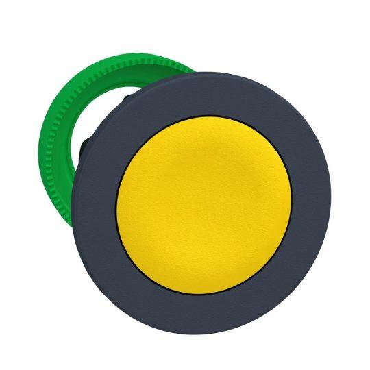Schneider ZB5FA5 Harmony panelbe süllyesztett műanyag nyomógomb fej, Ø30, visszatérő, sárga