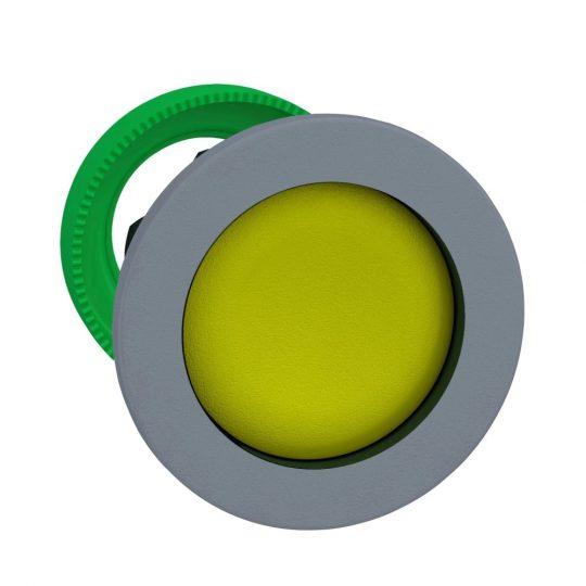 Schneider ZB5FA5C0 Harmony panelbe süllyesztett műanyag nyomógomb fej, Ø30, visszatérő, sárga, szürke perem