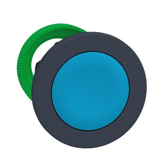 Schneider ZB5FA6 Harmony panelbe süllyesztett műanyag nyomógomb fej, Ø30, visszatérő, kék