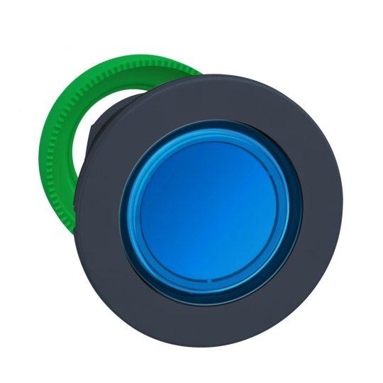 Schneider ZB5FA68 Harmony panelbe süllyesztett műanyag nyomógomb fej, Ø30, visszatérő, címkézhető tetővel, kék