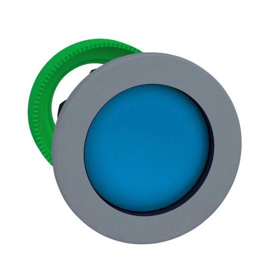 Schneider ZB5FA6C0 Harmony panelbe süllyesztett műanyag nyomógomb fej, Ø30, visszatérő, kék, szürke perem