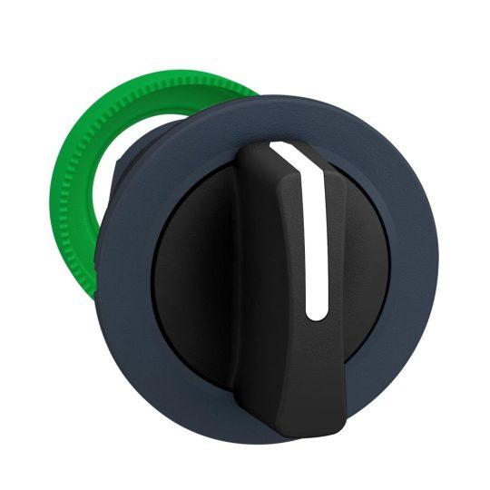 Schneider ZB5FD3 Harmony panelbe süllyesztett műanyag választókapcsoló fej, Ø30, 3 állású, fekete