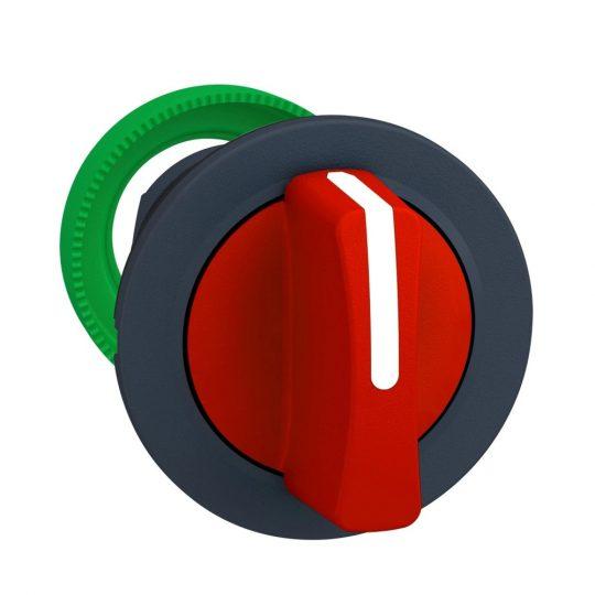 Schneider ZB5FD304 Harmony panelbe süllyesztett műanyag választókapcsoló fej, Ø30, 3 állású, piros