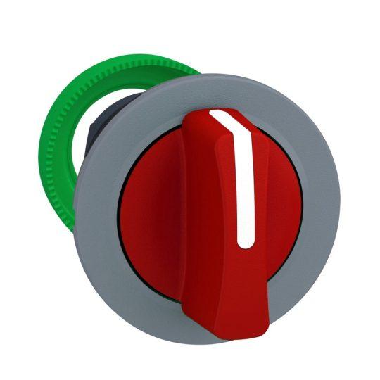 Schneider ZB5FD304C0 Harmony panelbe süllyesztett műanyag választókapcsoló fej, Ø30, 3 állású, piros, szürke perem