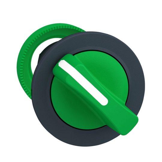 Schneider ZB5FD403 Harmony panelbe süllyesztett műanyag választókapcsoló fej, Ø30, 2 állású visszatérő, zöld