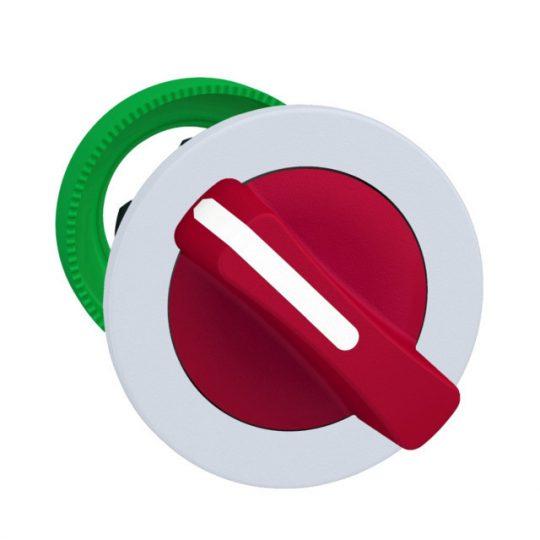 Schneider ZB5FD404C1 Harmony panelbe süllyesztett műanyag választókapcsoló fej, Ø30, 2 állású visszatérő, piros, fehér perem