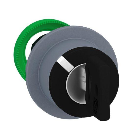 Schneider ZB5FG6C0 Harmony panelbe süllyesztett műanyag kapcsoló fej, Ø30, 455 kulcsos, 2 állású, jobbról visszatérő, szürke perem