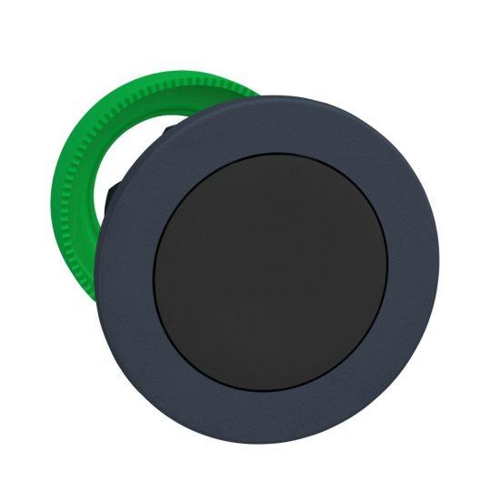 Schneider ZB5FH02 Harmony panelbe süllyesztett műanyag nyomógomb fej, Ø30, fekete, nyomó-nyomó