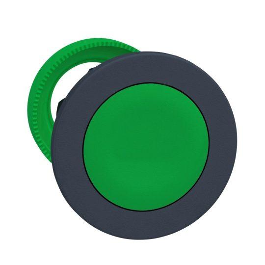 Schneider ZB5FH03 Harmony panelbe süllyesztett műanyag nyomógomb fej, Ø30, zöld, nyomó-nyomó
