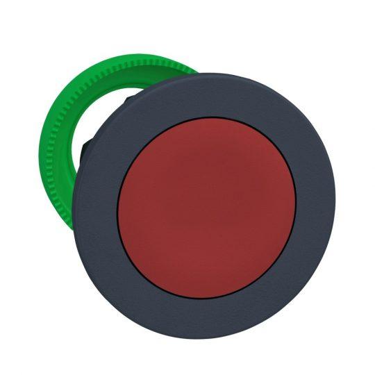 Schneider ZB5FH04 Harmony panelbe süllyesztett műanyag nyomógomb fej, Ø30, piros, nyomó-nyomó