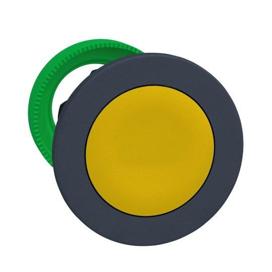 Schneider ZB5FH05 Harmony panelbe süllyesztett műanyag nyomógomb fej, Ø30, sárga, nyomó-nyomó