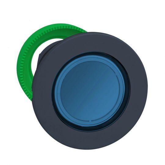 Schneider ZB5FH063 Harmony panelbe süllyesztett műanyag világító nyomógomb fej, Ø30, kék, nyomó-nyomó