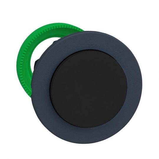Schneider ZB5FH2 Harmony panelbe süllyesztett műanyag nyomógomb fej, Ø30, kiemelkedő, fekete, nyomó-nyomó
