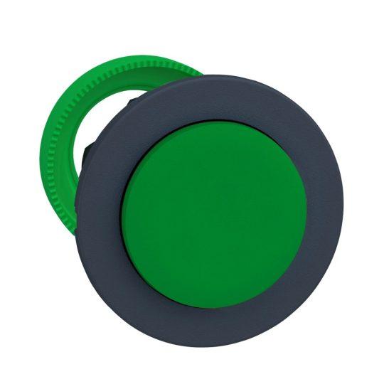 Schneider ZB5FH3 Harmony panelbe süllyesztett műanyag nyomógomb fej, Ø30, kiemelkedő, zöld, nyomó-nyomó