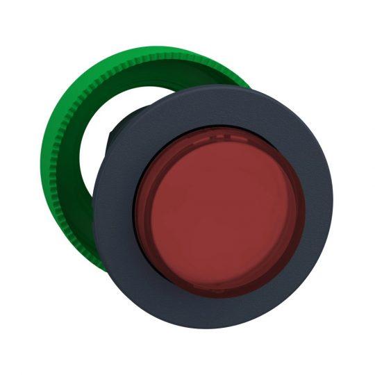 Schneider ZB5FH43 Harmony panelbe süllyesztett műanyag világító nyomógomb fej, Ø30, kiemelkedő, piros, nyomó-nyomó