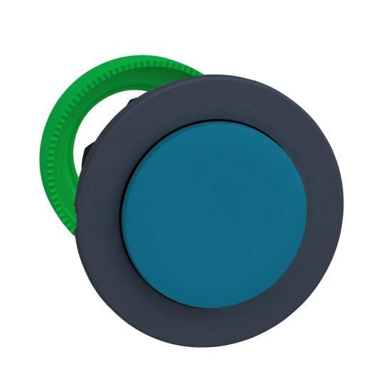 Schneider ZB5FH6 Harmony panelbe süllyesztett műanyag nyomógomb fej, Ø30, kiemelkedő, kék, nyomó-nyomó