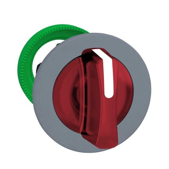 Schneider ZB5FK1343C0 Harmony panelbe süllyesztett műanyag világító választókapcsoló fej, Ø30, 3 állású, piros, szürke perem