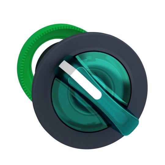 Schneider ZB5FK1433 Harmony panelbe süllyesztett műanyag világító választókapcsoló fej, Ø30, 2 állású, zöld, jobbról visszatérő