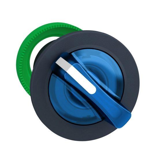 Schneider ZB5FK1463 Harmony panelbe süllyesztett műanyag világító választókapcsoló fej, Ø30, 2 állású, kék, jobbról visszatérő