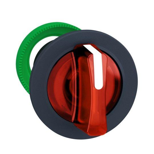 Schneider ZB5FK1543 Harmony panelbe süllyesztett műanyag világító választókapcsoló fej, Ø30, 3 állású, piros, középre visszatérő