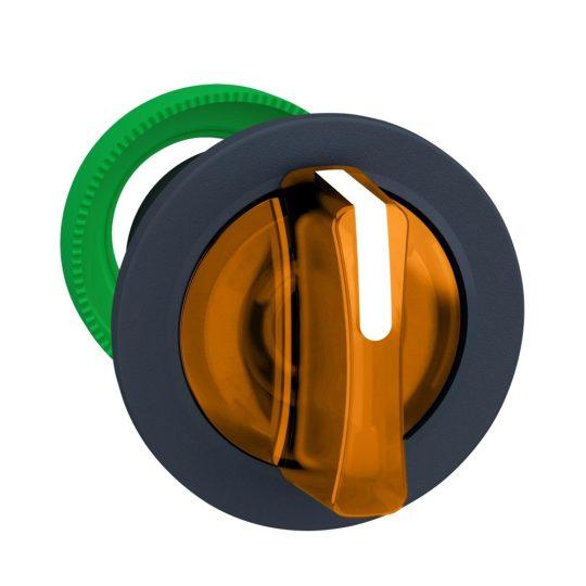 Schneider ZB5FK1553 Harmony panelbe süllyesztett műanyag világító választókapcsoló fej, Ø30, 3 állású, narancs, középre visszatérő